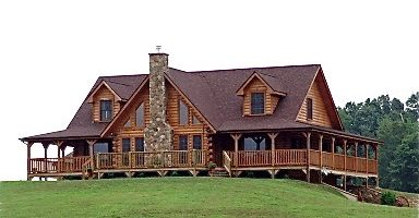 Log homes made with quality materials